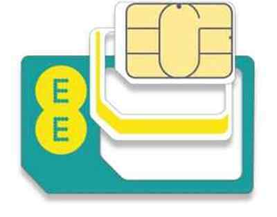 2 SIM Official EE Network Mobile Nano Micro Standard 2 x SIM CARD PAYG 4G