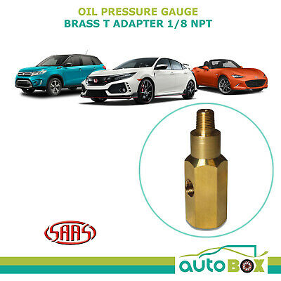 Oil Pressure Gauge Adapter 1/8 BSPT Brass SAAS T Piece Sensor Sender