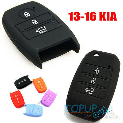 Fit For Kia Optima Sportage 13-16 Silicone Key Cover Fob Soul Rio Forte Carens