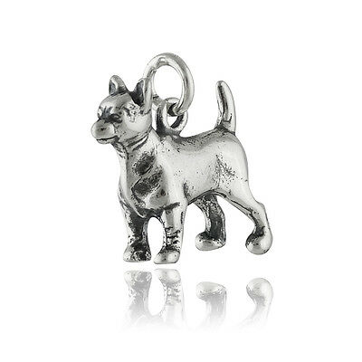 Chihuahua Dog Charm - 925 Sterling Silver - Puppy Small Breed Mexico NEW