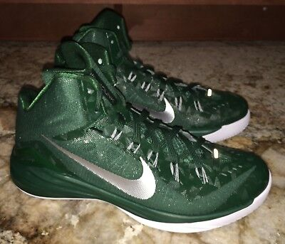 2d81a306c7ac NIKE Hyperdunk 2014 Dk Green Silver Basketball Shoes Sneakers NEW Mens 12 15