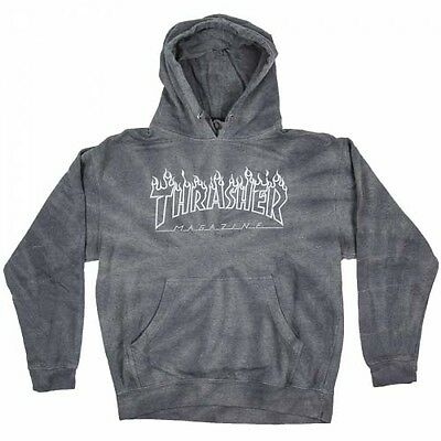 Thrasher - Silver Flame Spider Tie Dye Hoodie