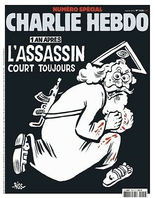 CHARLIE HEBDO N°1224 Special Anniversary Edition 1 Year After Paris Attack