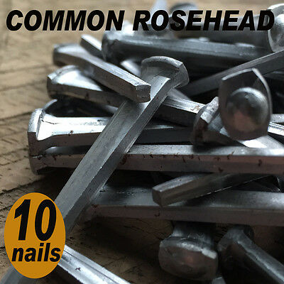 "2"" COMMON ROSEHEAD NAILS ~ Rustic-Vintage-Authentic Cut Nail   ~ QTY (10)"