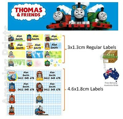 Thomas the tank engine Vinyl Personalised Name Label Sticker school & friend kid