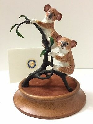"""Great """"Koalas"""" Porcelain Figurine by the Franklin Mint, Limited Edition 1980s"""
