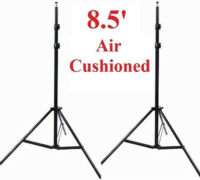 Pro studio Heavy Duty 2 x 8.5ft Air cushioned Stand All Metal Locking Collars