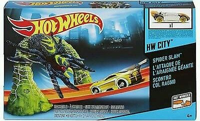 Hot Wheels HW City Track Set - Spider Slam Playset - BGH92 - New