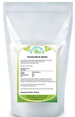 BIRCH TREE XYLITOL 500g, 1kg Natural Alternative to Sugar FROM FINNISH FORESTS