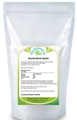 BIRCH TREE XYLITOL 500g - 3kg FROM FINNISH FORESTS /ksylitol finski/ Free UK P&P