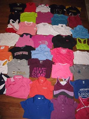Lot 38 Womens Nike Athletic Shirts Tees Tank Tops Under Armour Adidas Xs Small