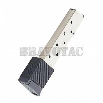 PROMAG 10-ROUND MAGAZINE 1911 45ACP Extended Mag w/ Clip Sleeve - Nickel  Steel