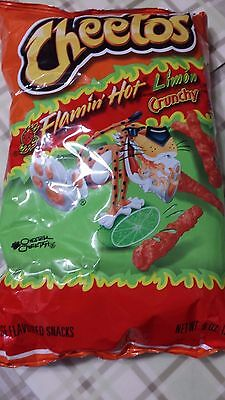 Cheetos Flamin' Hot Limon Crunchy Net Wt 8.5 Oz 03/2019 New And Fresh