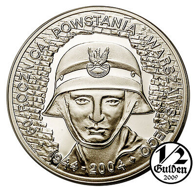 POLAND 10 Zlotych 2004 Warsaw Uprising Silver Proof Coin Polish Mint
