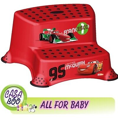 BABY Kids Toddler Toilet Training  Double Step Stool Disney Cars anti-slip NEW