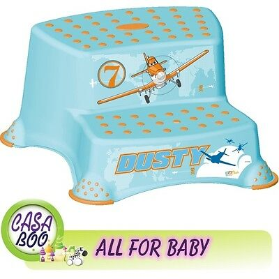 BABY Kids Toddler Toilet Training  Double Step Stool Disney PLANES anti-slip NEW