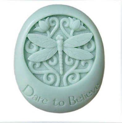 3D Dare to Believe Dragonfly Silicone Soap DIY Mold Craft Art Soap Making Mould