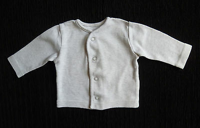 Baby clothes UNISEX BOY GIRL premature/tiny<6lbs/2.7kg grey soft cotton cardigan