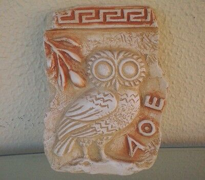 Owl Of Athens Relief-Ancient Greek Art-Goddess Athena Symbol of Wisdom Protector