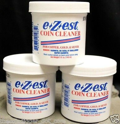 6 E-Z-EST Silver Gold Copper Bullion Jewelry Coin Cleaner 5oz Jar E-ZEST Bulk