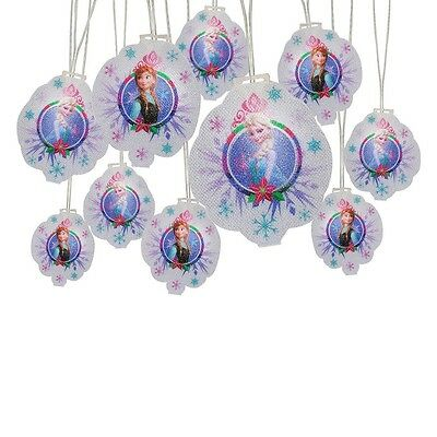 New 10 ct Disney Frozen Anna and Elsa Christmas Holiday Lights String 11 FT