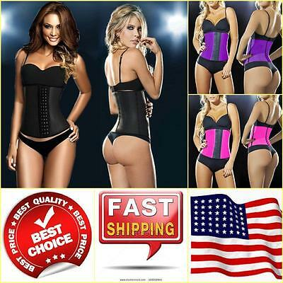 2018 NEW Latex Rubber Women Waist Trainer Cincher Underbust Corset Body Shaper