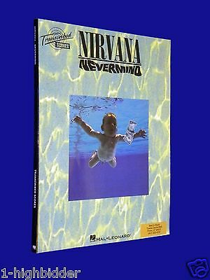 Nirvana Nevermind Guitar Recorded Versions Tab Tablature Music Song Book NICE!