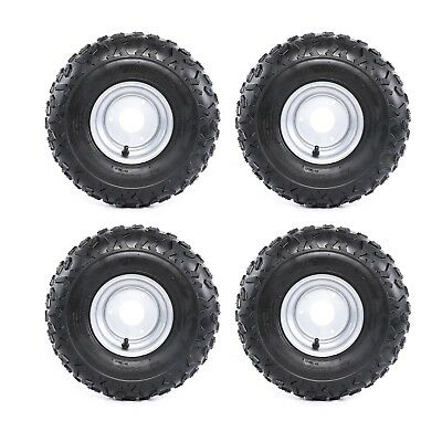 "4x 145/70 - 6"" Front Rear Tyre Rim Tire Tubeless 50 110cc Quad Bike ATV Buggy TA"