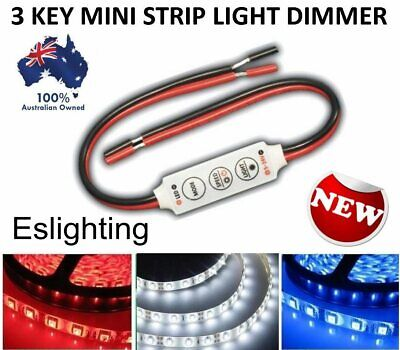 2X 12V Mini Led Strip Light Dimmer Controller On Off Switch For 3528 5050 5630