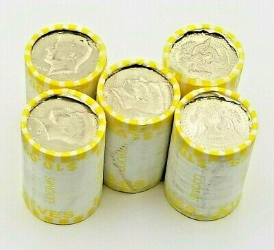 5 Rolls of Bank Wrapped Kennedy Half Dollars. Possible Silver! Unsearched!