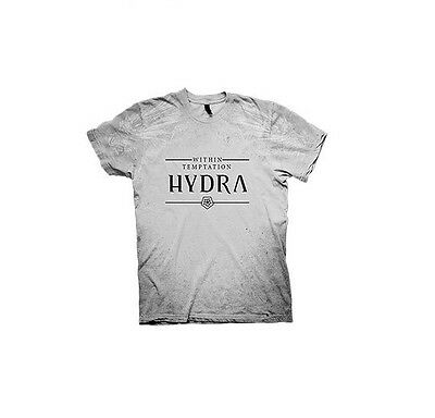 Within Temptation Hydra Texture All Over Print Ice Grey T-shirt NEW OFFICIAL