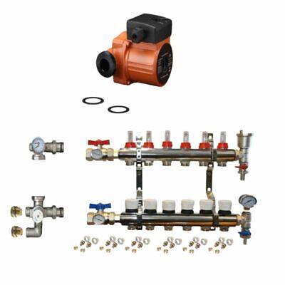 UNDERFLOOR HEATING  2-12 MANIFOLD SET  Pipes conectors size 16mm / 15mm
