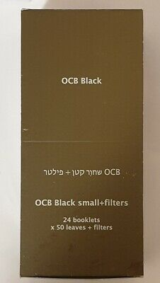 Brand New Ocb Small+Filters Premium #1 70 mm Rolling Papers 24 Booklets