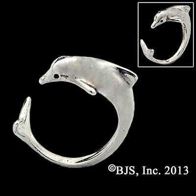 Single Dolphin Ring, Silver Dolphin Jewelry, Your Size, New
