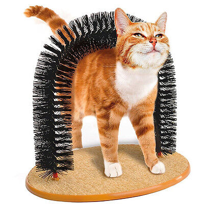 Cat Scratcher Arch Post Scratching Kitten Toy Scratch Grooming Play Furniture