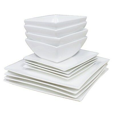 Maxwell & Williams White Basics East Meets West 12 Piece Dinner Set Brand New