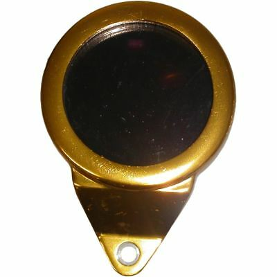 Tax Disc Holder Round Gold Anodised