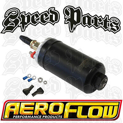 Aeroflow 650hp EFI External Fuel Pump & Wiring Plug Kit takes Bosch 044 fittings