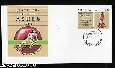 1982 AUSTRALIA CRICKET Centenary of the Ashes  Illustrated First Day Cover