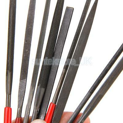 10pcs Round Flat Needle Files Set For Metal Glass Jewelry Wood Carving Craft