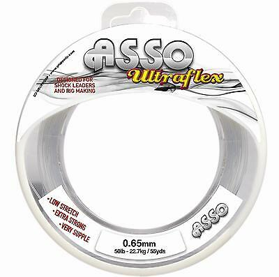 Asso UltraFlex Shockleader and Rig Body Sea Fishing Line 50m Spool All Sizes