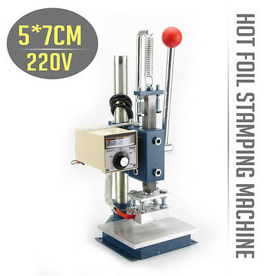 NEW TEMP Control Hot Foil Stamping Embossing Machine Manual Marking Leather Tool
