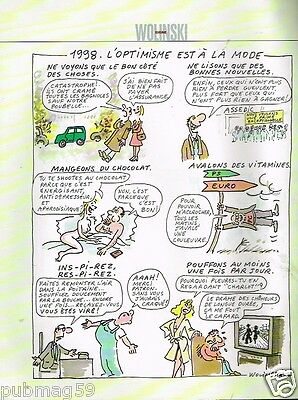 Collectibles Original Publicité Advertising 2006 Dessin Signé Wolinski