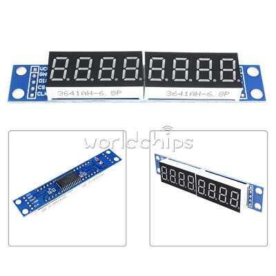 Blue MAX7219 LED Dot Matrix 8-Digit Digital Tube Display Control For Arduino