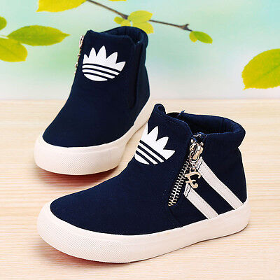 2017 Spring Children Canvas Shoes Boys Girls Sneakers Kids Casual High Top Shoes