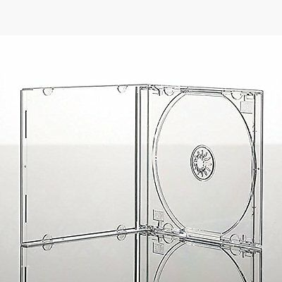 25 x Single CD Jewel Case Cases 10.4mm Spine Clear Tray HIGH QUALITY PLASTIC