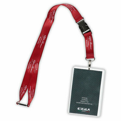 Lanyard Keychain Llavero Alfa Romeo Racing F1 Team Raikkonen Official New