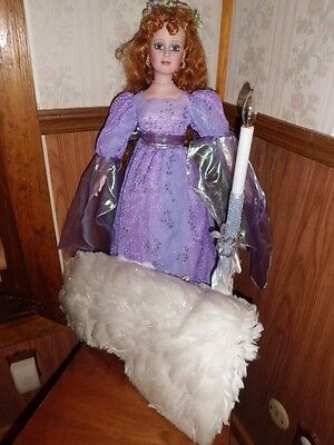 "Michael Reid 28"" tall ""Lenora"" porcelain angel doll free shipping"