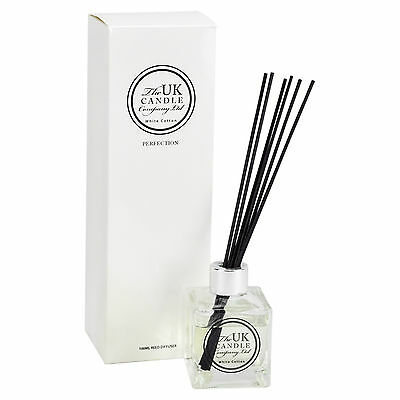 Uk Candle Company White Cotton Reed Diffuser 100Mls Brand New