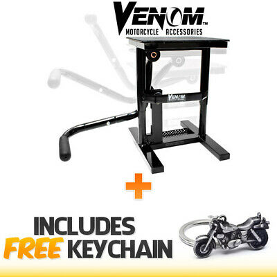 Motocross Racing Dirt Bike Adjustable Lift Maintenace Stand+Cruiser Keychain